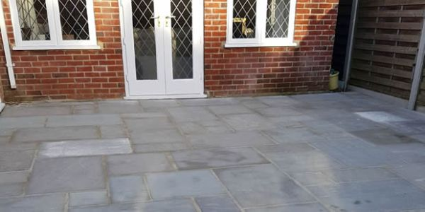 new patio laid Gawber